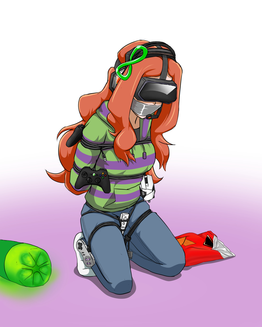 and gagged duct bound with tape Shoujo_to_ura_roji