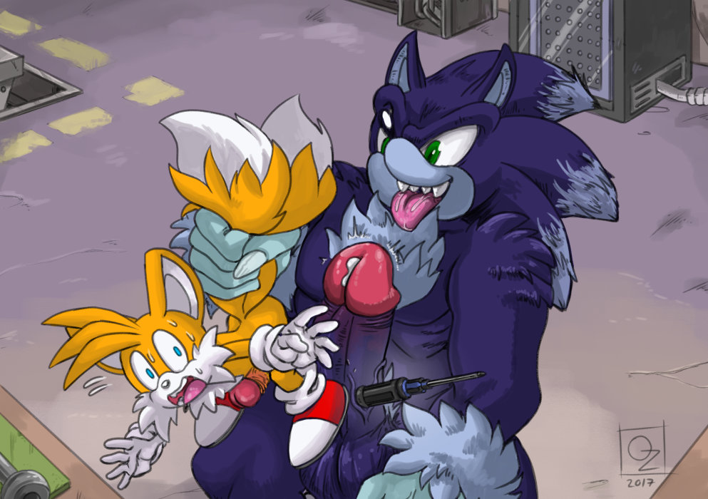 and werehog sonic the tails Cum in pussy close up